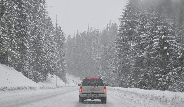 bilkörning på vintern